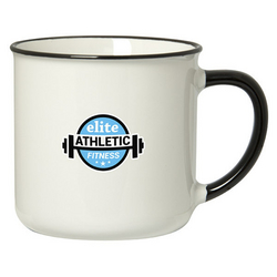 SPRING 350 ML. (12 FL. OZ.) MUG WITH COLOURED RIM/HANDLE