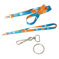 "EZ-IMPORT? 0.5"" W SUBLIMATED LANYARD"