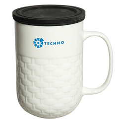 440 ML. (15 FL. OZ.) COLOMBO PORCELAIN MUG WITH TEA STRAINER