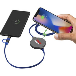 Gamma Wireless Charging Pad with 3-in-1 Cable