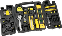 Tool Set with Tri-Fold Carrying Case
